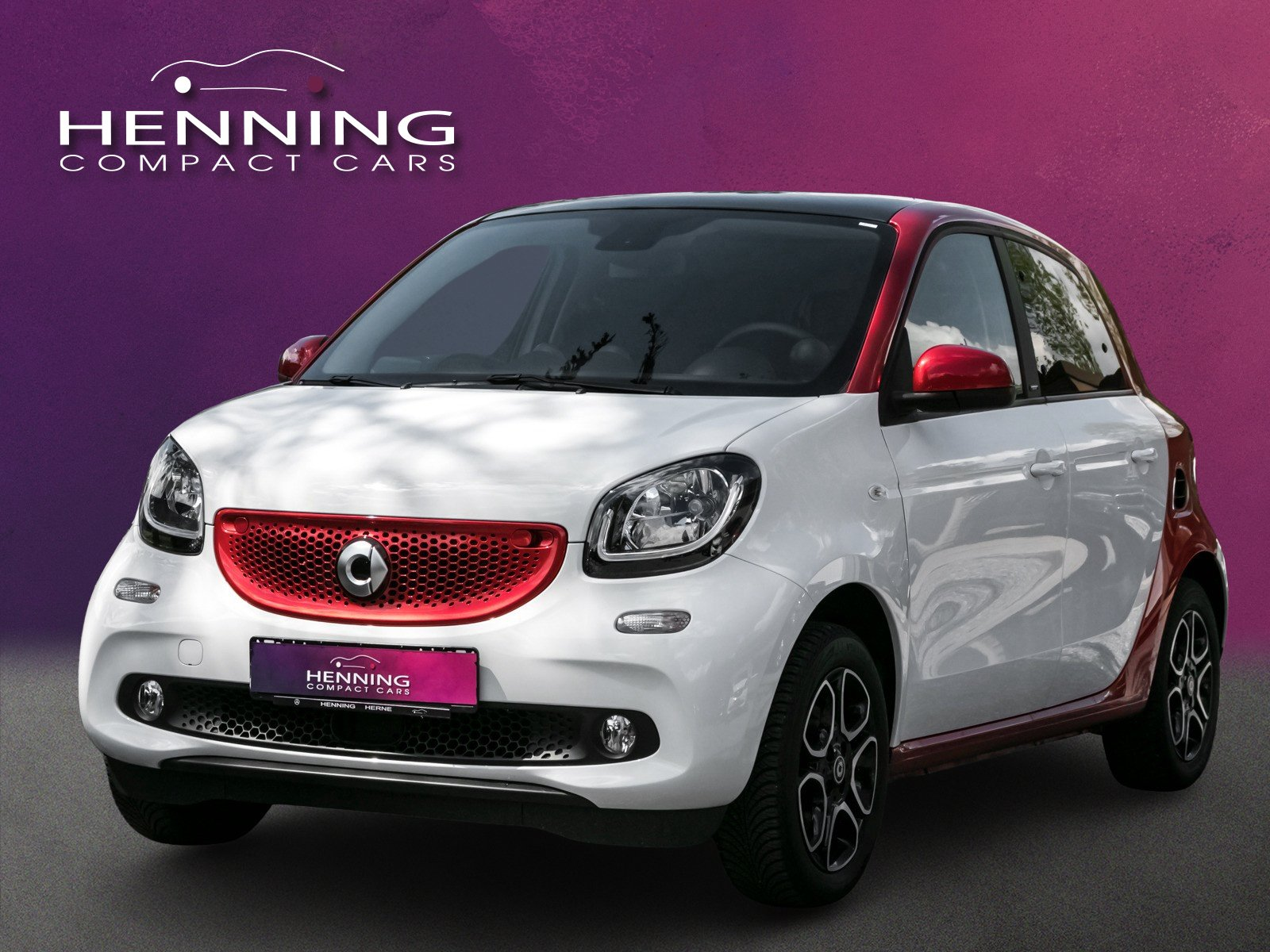 SMART smart forfour 66 KW weiß/rot